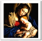 Tamatina Jesus Canvas Paintings - Mother Mary & Baby Jesus ...